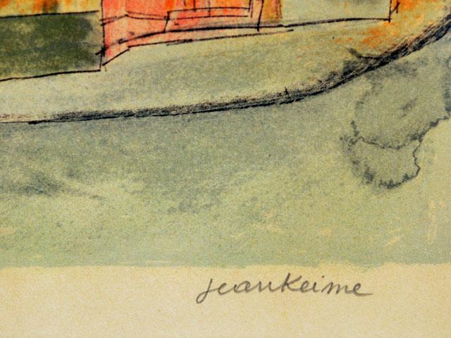 雑貨(ホビー) 絵・額入り品 Jean KEIME ジャン・ケイム  リトグラフ