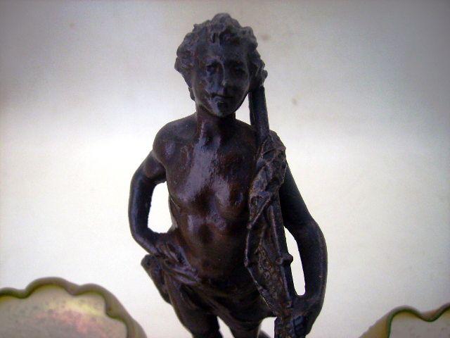 アンティーク その他 銀・銅製品ほか ヌーボー期 ブロンズ像
