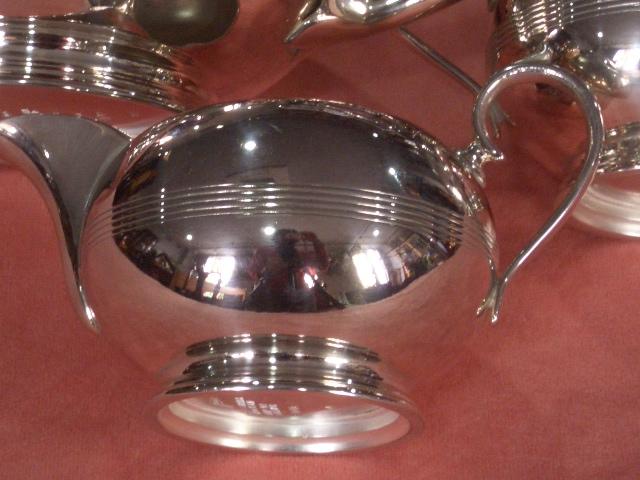 アンティーク その他 銀・銅製品ほか ティ・4点セット アール・デコ シルバープレート 未使用