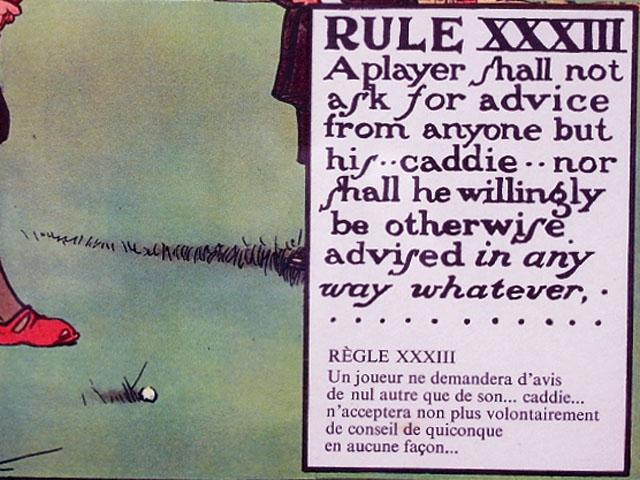 雑貨(ホビー) 絵・額入り品 絵 (Rules of Golf XXXIII)