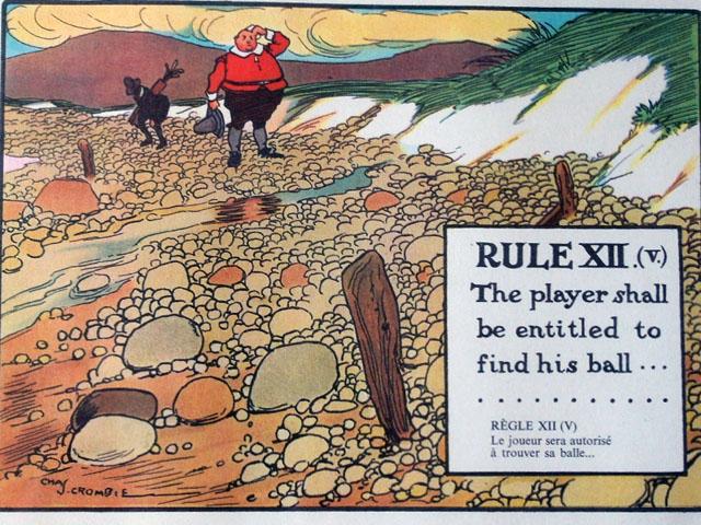 雑貨(ホビー) 絵・額入り品 絵 (Rules of Golf XII)