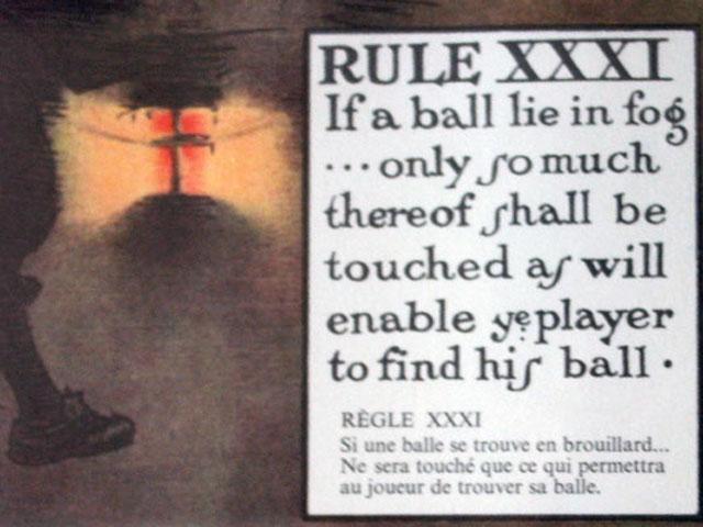 雑貨(ホビー) 絵・額入り品 絵 (Rules of Golf XXXI)
