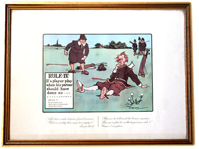 雑貨(ホビー) 絵・額入り品 絵 (Rules of Golf IV)
