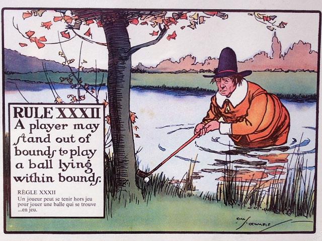 雑貨(ホビー) 絵・額入り品 絵 (Rules of Golf XXXII)