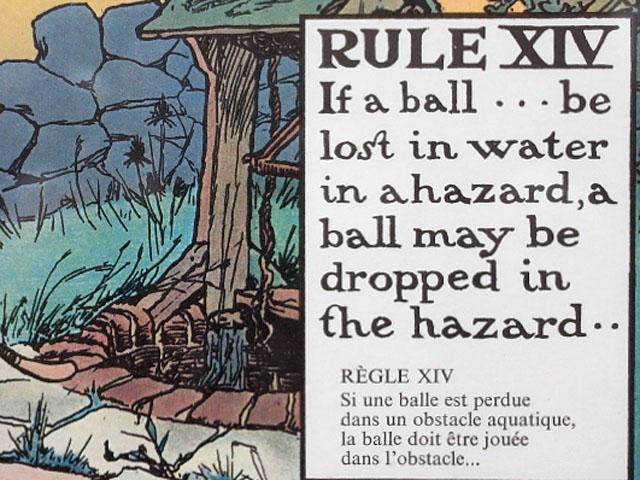 雑貨(ホビー) 絵・額入り品 絵 (Rules of Golf XIV)