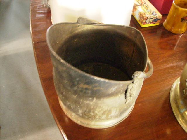 コークス入れ 真鍮,アンティーク 建材,暖炉まわり