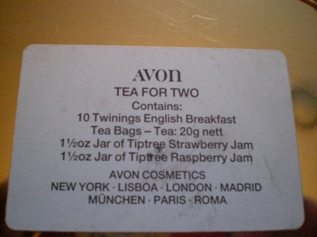 雑貨(ホビー) ティン(缶) AVON TEA FOR TWO