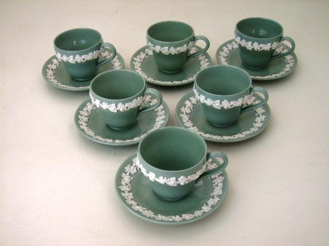 アンティーク 陶磁器 食器 カップ&ソーサー他 ウェッジウッド(Wedgewood) カップ&ソーサー 6客セット