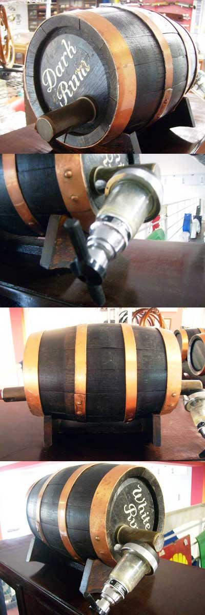 雑貨(パブ・グッズ) カウンター用品 アンティーク 酒樽ミニ 3個セット
