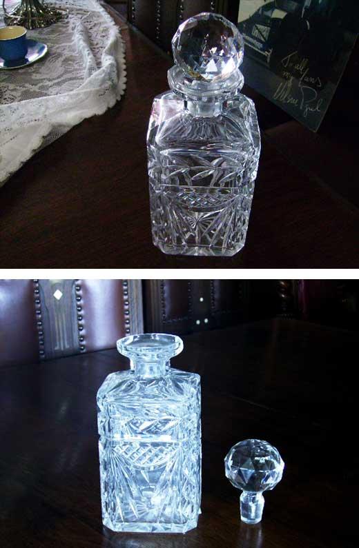 デカンタ,アンティーク ガラス,クリアー系