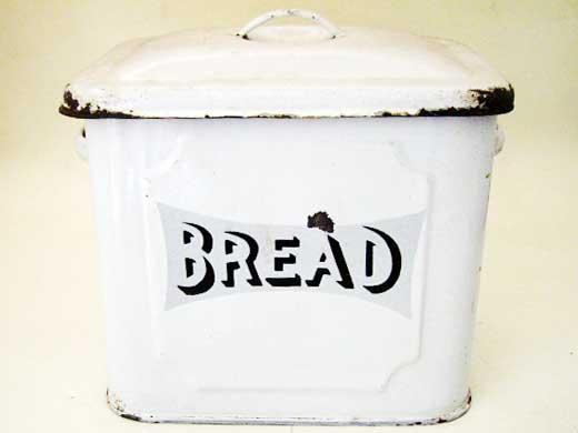 雑貨(キッチン) ホウロウ(エナメル) ホウロウ パン入れ