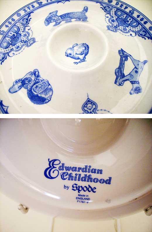 雑貨(キッチン) 雑貨陶器 Spode Edwardian  Childhood エッグスタンド 新品