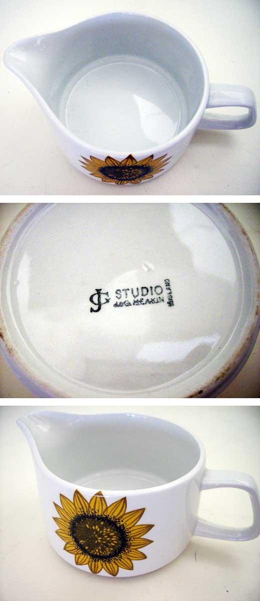 雑貨(キッチン) 雑貨陶器 J&G Meakin(ミーキン) STUDIO ミルクジャー(1)(2) 1個 6500円