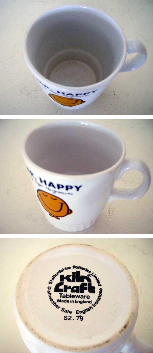 雑貨(キッチン) 雑貨陶器 マグカップ Mr.Happy