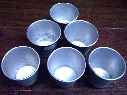 雑貨(キッチン) キッチン用品 アルミ プリンモールド 1個