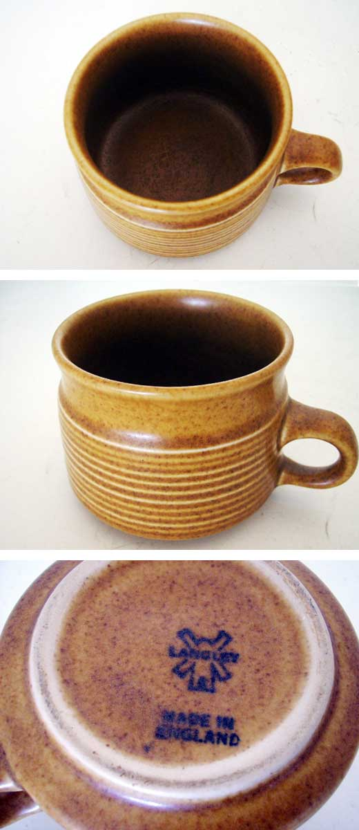 雑貨(キッチン) 雑貨陶器 LANGLEY コーヒーカップ 4個セット