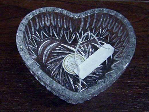 雑貨(キッチン) 雑貨ガラスほか ハート クリスタルカットガラス