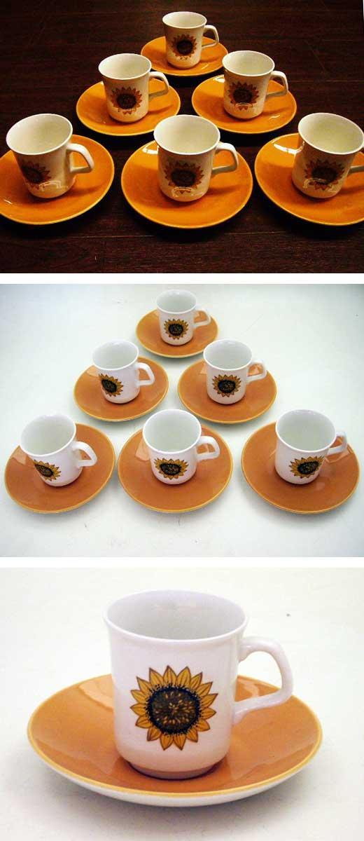 雑貨(キッチン) 雑貨陶器 J&G Meakin(ミーキン) コーヒーカップ 6客セット