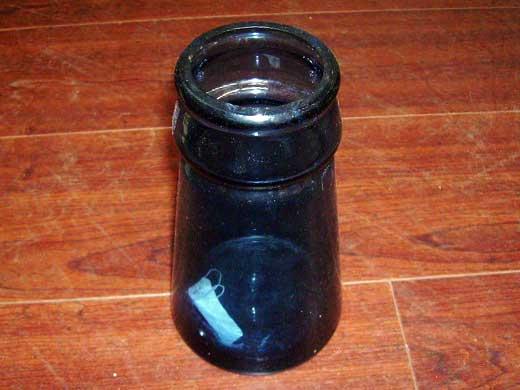 雑貨(キッチン) 雑貨ガラスほか ボトル ブルー