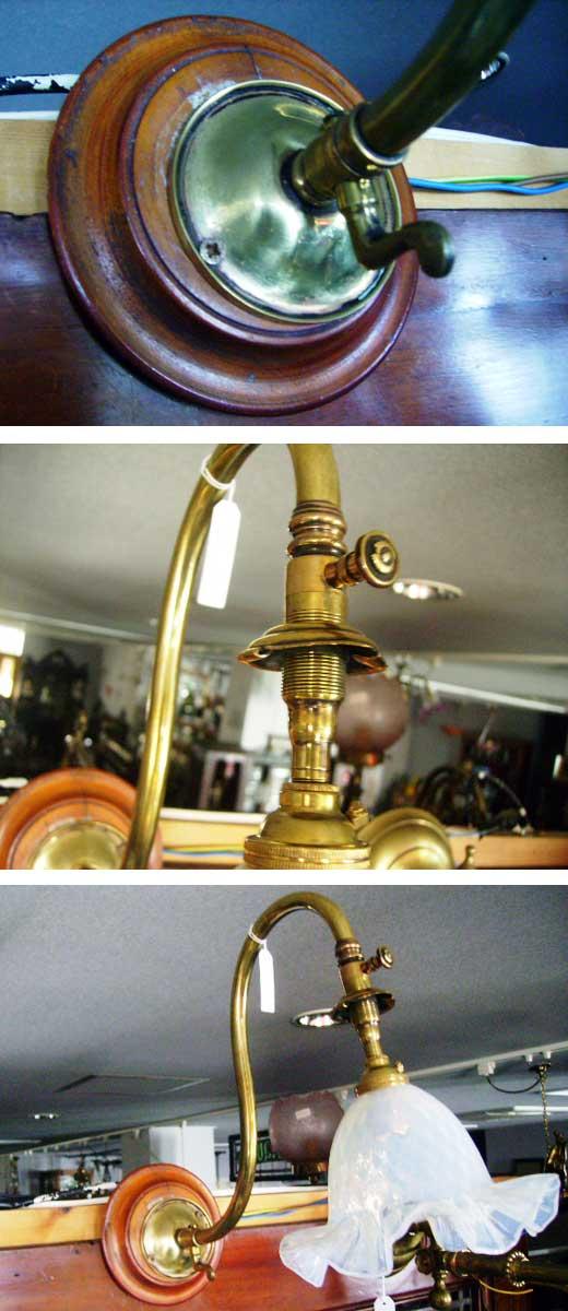 アンティーク 照明 ランプ用ブラケット(テーブル・ウォール用等) ランプブラケット
