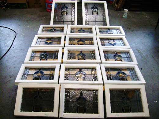 ステンドガラス 17枚セット アンティーク 建材 ステンドグラス