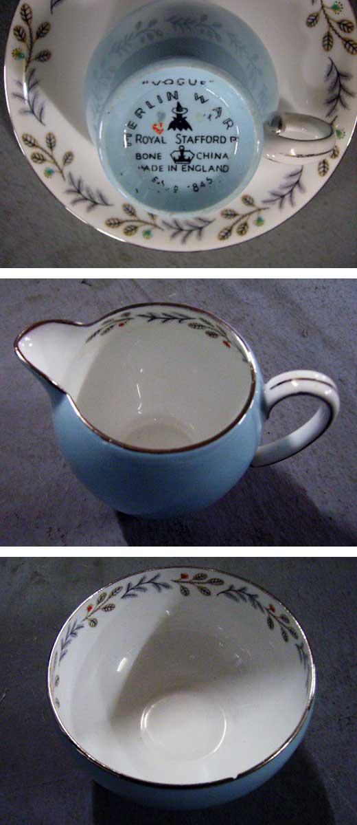 アンティーク 陶磁器 食器 カップ&ソーサー他 ロイヤルスタッフォード(Royal Stafford) ティーセット