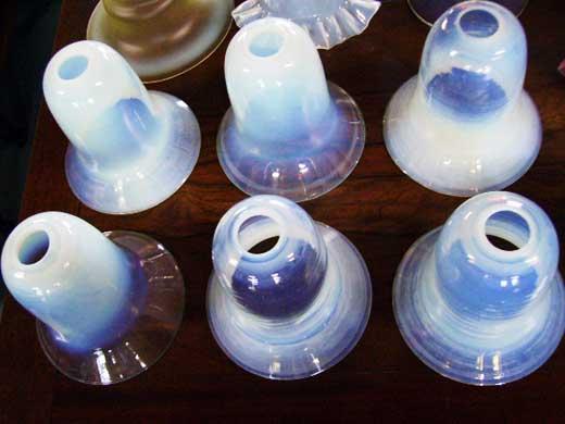 5灯 シャンデリア (4269 ヴァセリン シェード 5個付き),アンティーク 照明,シャンデリア・ハンギングランプ