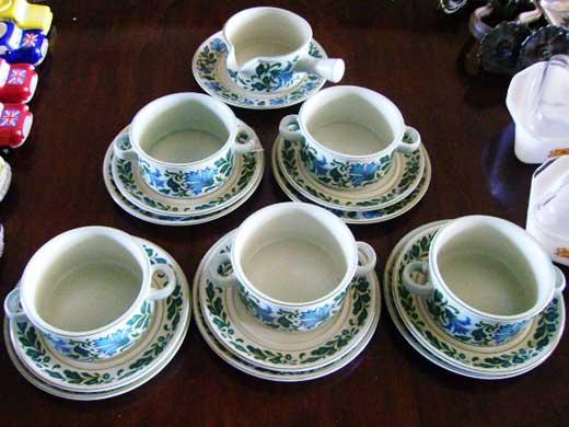雑貨(キッチン) 雑貨陶器 Midwinter(ミッドウィンター) スープカップトリオ セット
