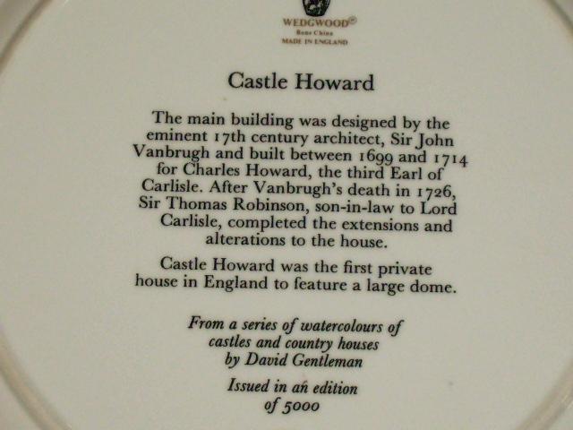ウェッジウッド(Wedgewood) プレート Watercolours of Castles… アンティーク 陶磁器 飾り用プレート