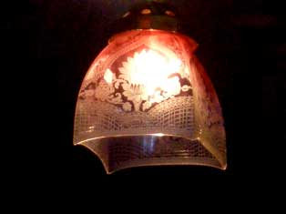 アンティーク 照明 シェード シェード クランベリー・エッジド