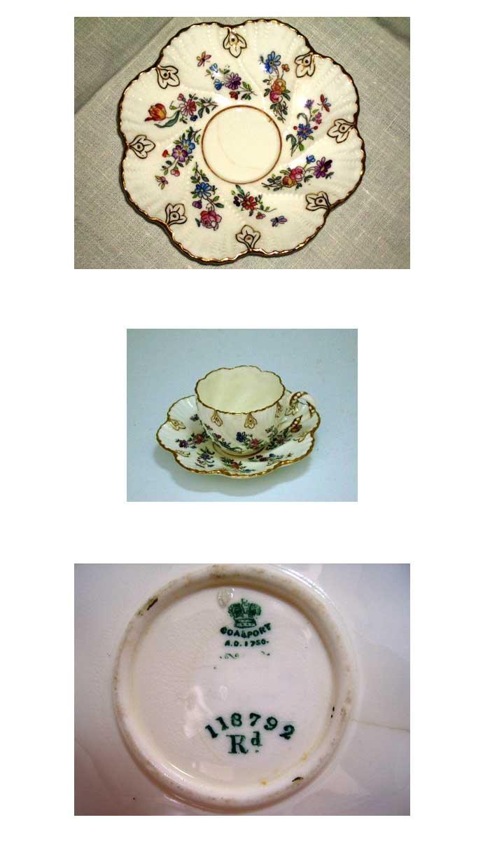 アンティーク 陶磁器 食器 カップ&ソーサー他 コールポート 3点セット