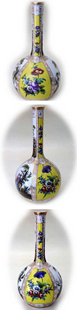 アンティーク 陶磁器 マイセン・ドレスデン コレクション バーズ(花器) マイセン・ドレスデン ペア