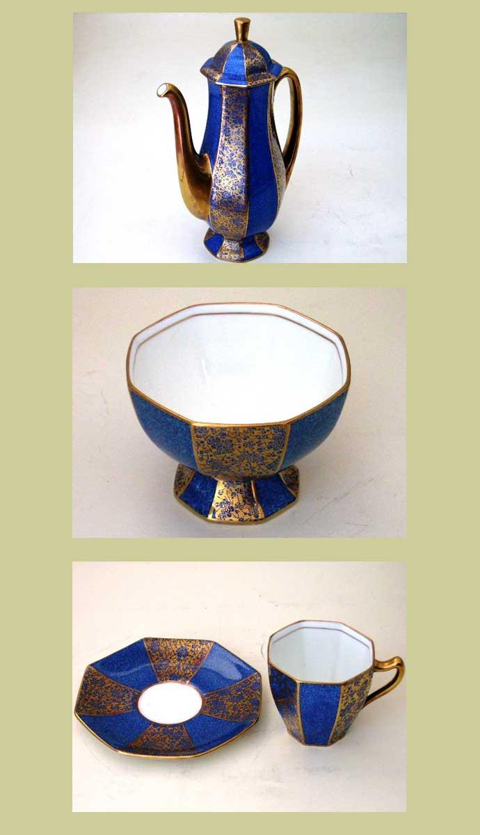 アンティーク 陶磁器 食器 カップ&ソーサー他 ロイヤルドルトン(Royal Doulton)  カップ&ソーサー6客+ミルクジャー+シュガーポット+ポット