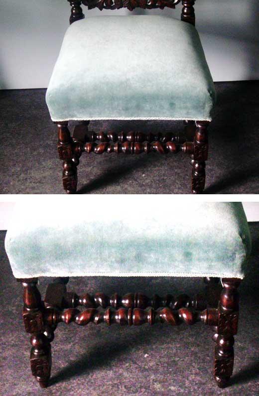 チェアー 2脚 張替え済み(ホースヘア使用),アンティーク 家具,チェア・ソファー
