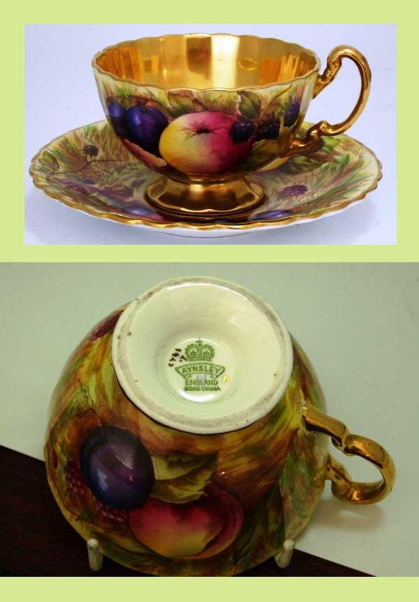 アンティーク 陶磁器 食器 カップ&ソーサー他 エインズレイ(Aynsley) カップ&ソーサー 22金