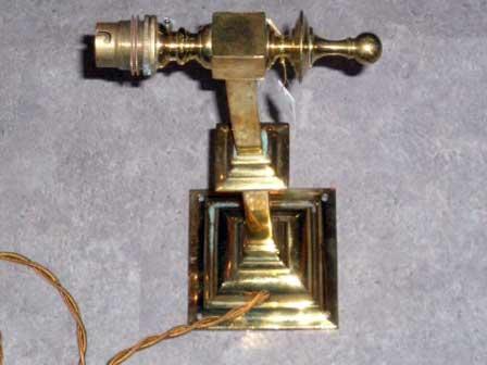 アンティーク 照明 ランプ用ブラケット(テーブル・ウォール用等) ウォール ランプブラケット 真鍮