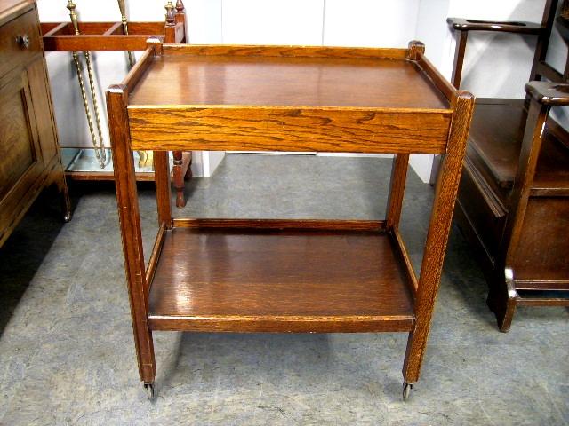 アンティーク 家具 テーブル・ダイニングセット ティー トローリー 引き出し付