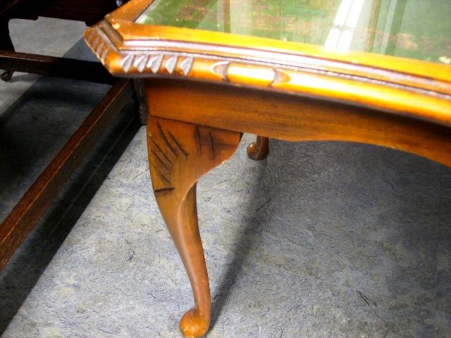 アンティーク 家具 テーブル・ダイニングセット コーヒーテーブル(レザー)