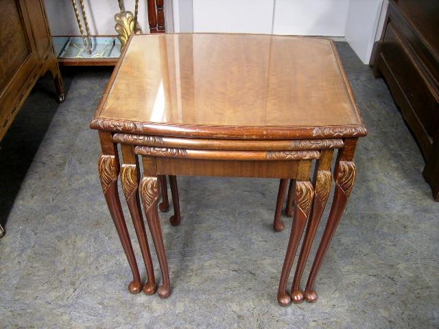 ネスト・テーブル(ガラス天板) アンティーク 家具 テーブル・ダイニングセット