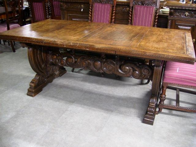 ダイニングテーブル 伸長式 アンティーク 家具 テーブル・ダイニングセット