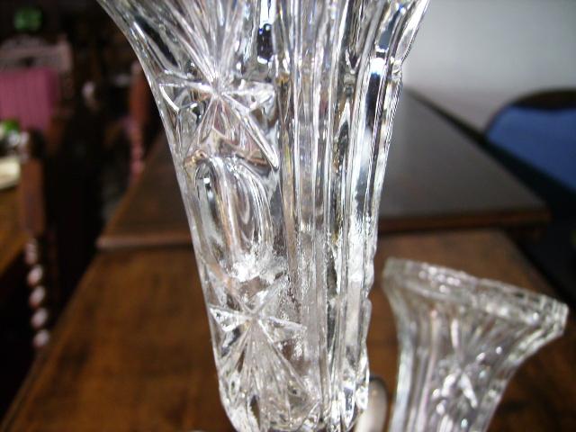 バーズ(花器) カットガラス アンティーク ガラス クリアー系
