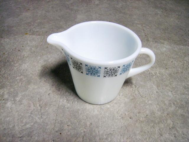 英国JAJ社製(Chelsea) ミルクジャー アンティーク ガラス テーブル&キッチンウェア