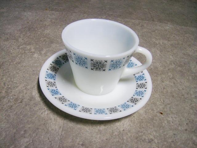 英国JAJ社製(Chelsea) カップ&ソーサー アンティーク ガラス テーブル&キッチンウェア