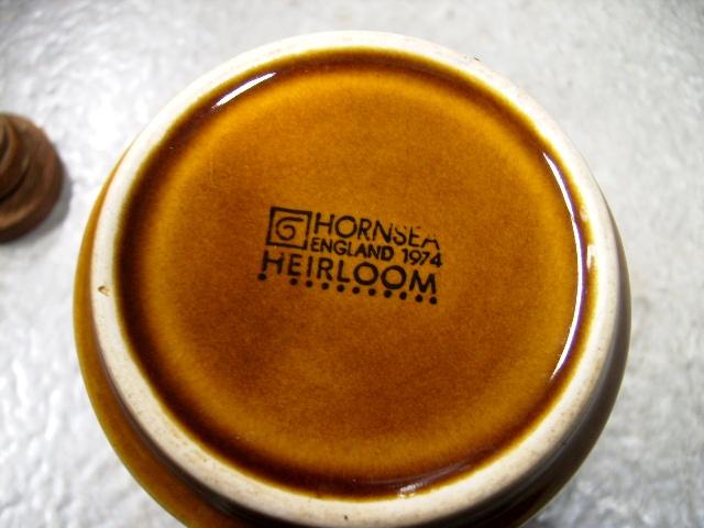 ホーンジー (Hornsea) ビネガー&オイル差し  Heirloom アンティーク 陶磁器 雑貨陶器