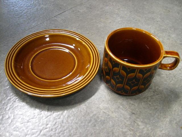 ホーンジー (Hornsea) カップ&ソーサー 6客セット Heirloom アンティーク 陶磁器 雑貨陶器