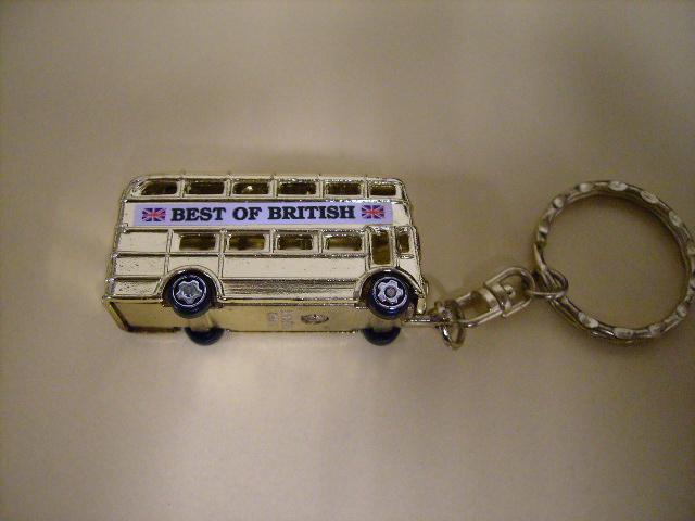雑貨(ホビー) オモチャ キーホルダー ロンドンバス ゴールド 新品