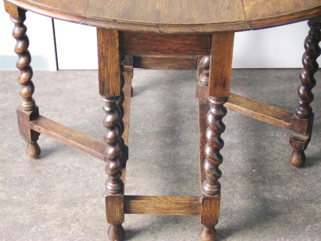 アンティーク 家具 テーブル・ダイニングセット ゲートレッグ・テーブル