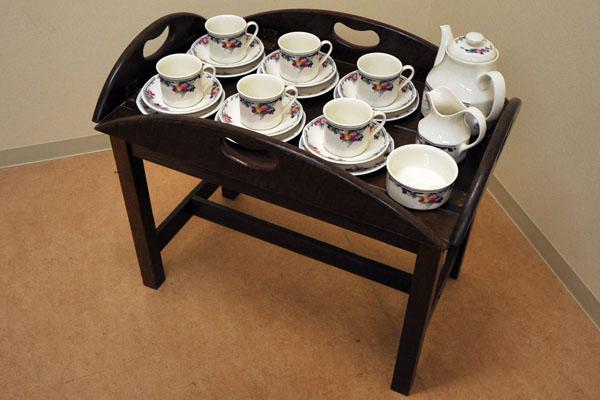 アンティーク 家具 テーブル・ダイニングセット トレー付テーブル