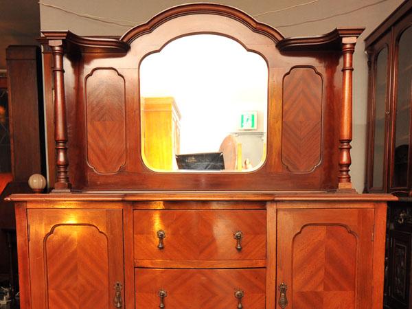 ミラーバック サイドボード,アンティーク 家具,サイドボード・チェスト・ドレッサー