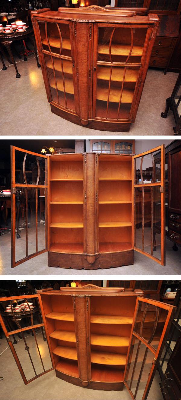 アンティーク 家具 キャビネット・ショーケース ディスプレイ キャビネット